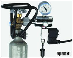 Equipo de abonado con botella de CO2