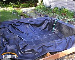 Colocación de lona tras limpiar el hoyo